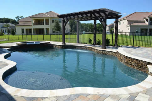 Orlando inground pool and spa builders living the life for Pool and spa builders