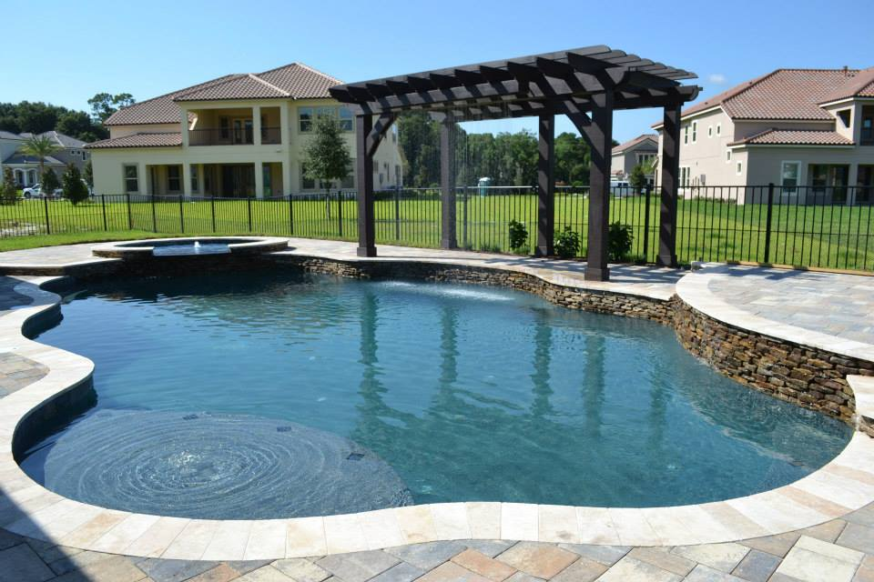 In ground custom pool builders daytona beach artesian for Inground pool companies